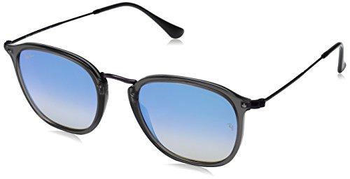 RAYBAN JUNIOR Unisex-Erwachsene Sonnenbrille RB2448N Transparent Grey/Blueflashgradient, 51