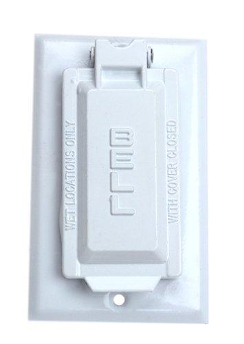 Hubbel Elektrische Raco Wei- Single Gang Wetterfeste FI Box Cover 5103-6 - Single Gang Box