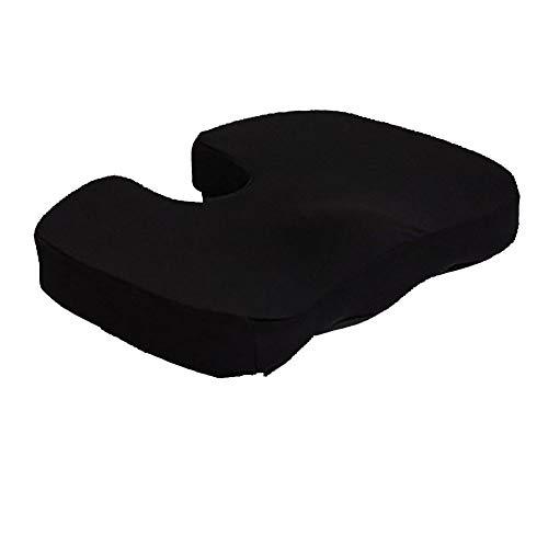 Awakmer il cuscino ortopedico del sedile in schiuma di memoria aiuta con il mal di schiena della sciatica perfetto per la sedia dell'ufficio e per la seduta sul pavimento 46 * 36 * 6cm