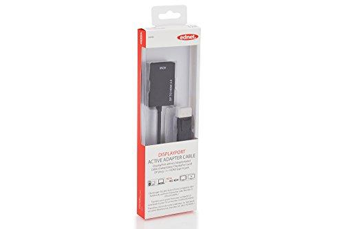 ednet 84496 DisplayPort Grafik Adapter, DP zu HDMI Typ A, 4K Ultra HD 60Hz, 4096 x 2160 Pixel, Schwarz