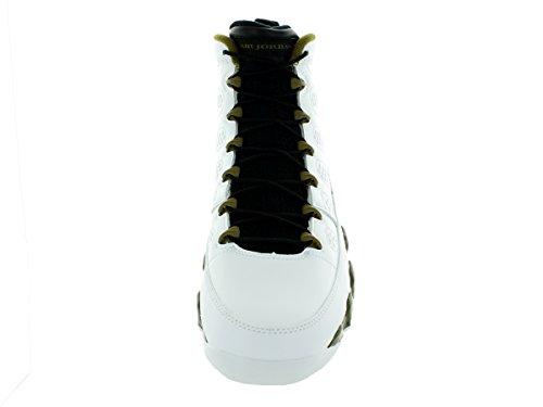 Nike - Air Jordan 9 Retro, Scarpe sportive Uomo Multicolore (Blanco / Negro / Verde (White / Black-Militia Green))