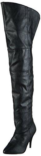 Pleaser LEGEND-8868, Damen Over-Knee Stiefel, Schwarz (Schwarz (Blk Faux Leather)), 40 EU (7 Damen UK)