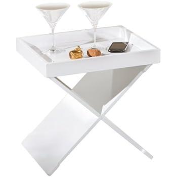 invicta interior ciano design beistelltisch tablett tisch schwarz chrom 40 x 40 cm. Black Bedroom Furniture Sets. Home Design Ideas
