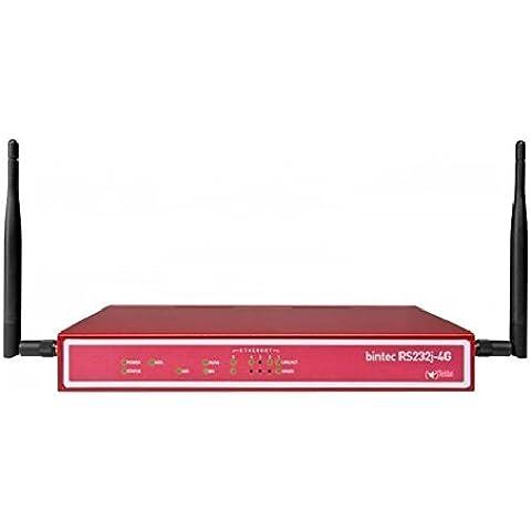 bintec RS232J-4G - Router - ISDN/WWAN/DSL - Switch de 5 puertos - GigE, PPP, MLPPP / / integrada ADSL 2+ Módem (Anexo B, J) / LTE(4G), UMTS(3G) / 4+1x 10/100/1000TX / 1x ISDN S0 / 1x USB 2.0 / 1x C