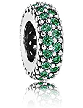 Pandora Damen-Bead-Zwischenelement Pavé-Inspiration 925 Silber Zirkonia grün - 791359CZN