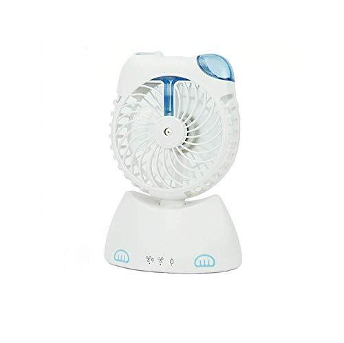 BETTAI Mini Ventilator, Cartoon Fan, niedliche Katze Form USB wiederaufladbare Mini Klimaanlage Kälte Wasser Luftbefeuchter, Office Desktop Handheld Fan Spray Fan 13 x 7 x 19 cm (Color : White)