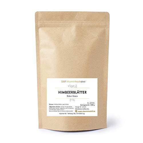 VH3 Himbeerblätter Kräuter Tee 150g - Kinderwunsch, Schwangerschaft, Frauengesundheit -
