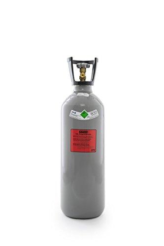 Preisvergleich Produktbild 10 kg Kohlensäure Flasche/CO2 Flasche mit Steigrohr / Gasflasche (Eigentumsflasche) gefüllt mit Kohlensäure(CO2) / Lebensmittelqualität nach E290/ kurze Bauform/ NEUE Flasche/ 10 Jahre TÜV ab Herstelldatum/ made in EU