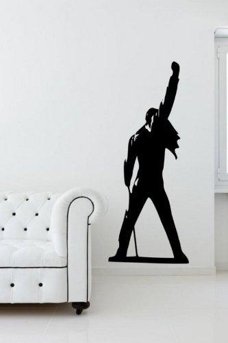 Pegatina grande pared silueta Freddie Mercury Queen