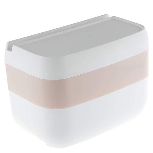 Backbayia Ovaler Doppelter Tissue Box Holder Wasserdichter Papierspenderbehälter für Ihr Badezimmer Und Ihre Toilette (Rosa)