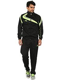 Shiv Naresh SNTS Super Poly-450A Polyester Track Suit, Men's (Black)