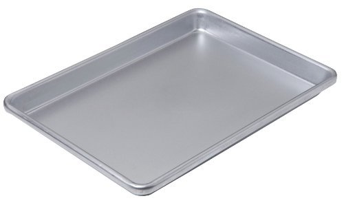 Chicago Metallic Commercial II Non-Stick Small Cookie/Jelly Roll Pan, 13 by 9.5 by CHICAGO METALLIC - Chicago Metallic Jelly Roll Pan