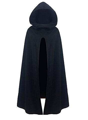 Futurino Damen Winter/Herbst Gotisch Lose Umhang mit Kapuze Mantel Poncho Kap Outwear Strickpulli