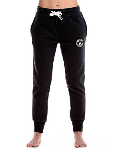 Damen Athletic-hose (WOLDO Athletic Jogging Hose Damen - Jogginghose für Frauen Sweatpants Traningshose Jogger schwarz M)