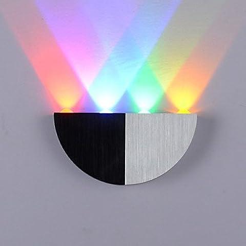 ASNSWDC® lampada da parete semicerchio portato quattro luci rosse acrilico