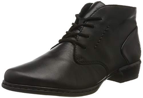 Rieker Damen 52230 Stiefeletten, Schwarz (schwarz/schwarz 01), 39 EU
