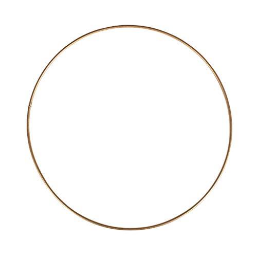 Rayher Círculo Desnudo de Metal para atrapasueños suspensión y lámparas 20cm Dorado envej