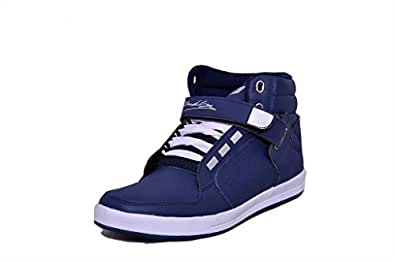 Black Tiger Shoes for Men Online Boots Synthetic Leather Casual Shoes 4263-Blue -10