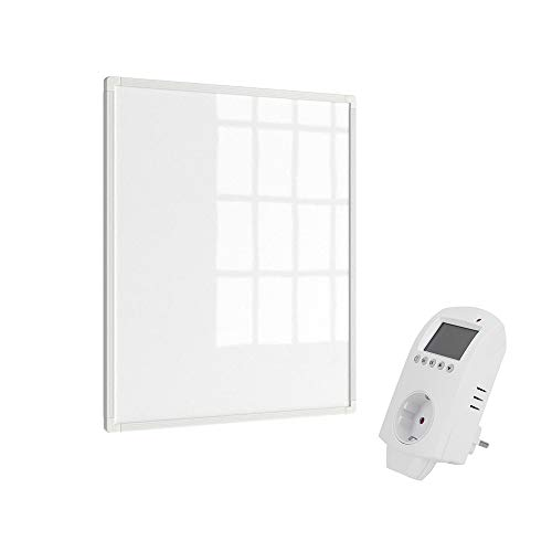 Eldstad Infrarotheizung 300W + Thermostat Heizpaneel Infrarot Heizkörper Elektro Heizung