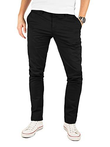 Yazubi Chino Herrenhosen schwarz - Kyle by Yzb Jeans Schwarze Hose - Business Stoff Hosen Chinohose Maenner Stretch, Schwarz (Black 4R194008), W30/L30