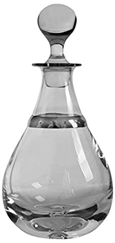 Mounted Crystal Ovoid Decanter with sterling silver plimsoll line. by Silver Basket