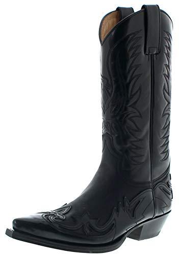 Sendra Boots Unisex Stiefel 3241 Negro Westernstiefel Schwarz 41 EU