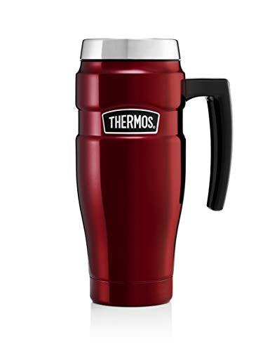 Thermos in Acciaio Inox, 470 ml-Tazza Termica da Viaggio Mirtillo Rosso