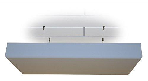 Deckensegel Bass Absorber Akustik Schaum mit Dekor-Kante aus BASOTECT® lichtgrau DIN4102 Maße: 100 x 50 x 5cm ohne Halterung -