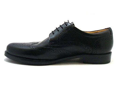 Novelty  Art 66012 Derby Inglese, Chaussures de ville à lacets pour homme Noir