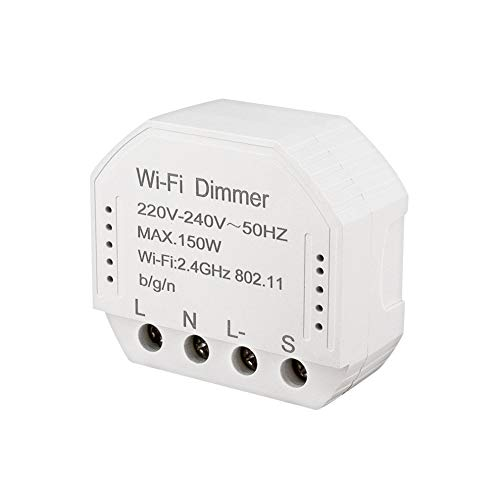 SODIAL Wifi Smart Dimmer Module 220V-240V 150W Controller Timer Switch Light Voice Control Funziona per Tuya Amazon Alexa Home Ifttt