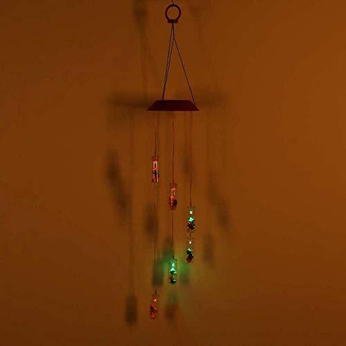 FENGKK Led Windspiel Hängende Beleuchtung Farbwechsel Lampe Garten Licht Beleuchtung Bunte Wind Glocke Licht -