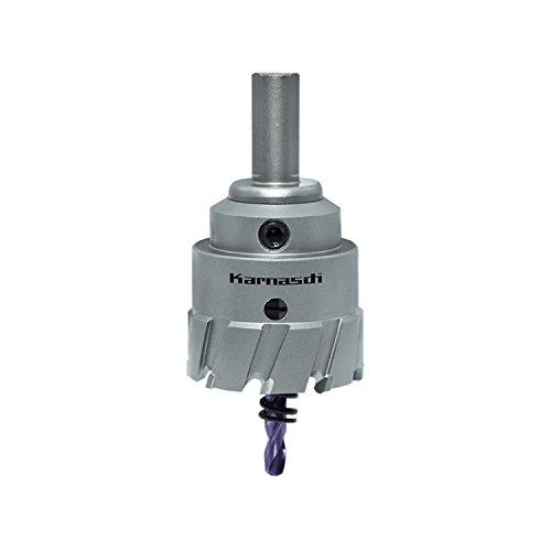 Karnasch POWER-MAX Hartmetall-bestückte Lochsäge, Durchmesser 42 mm, Nutzlänge 30 mm, komplett mit Schaft, Zentrierbohrer und Auswurffeder, 1 Stück, 201130042