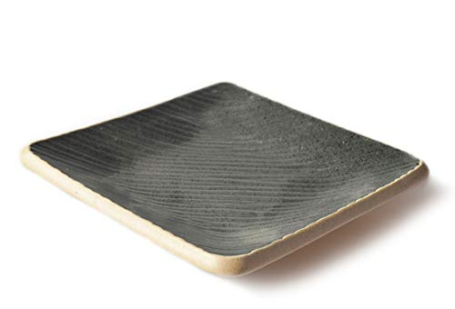 THE CHEF COLLECTION - Plato Cuadrado Zen 15, Colección Zen, plato de cerámica japonés, 15,0x15,0x1,5 cm