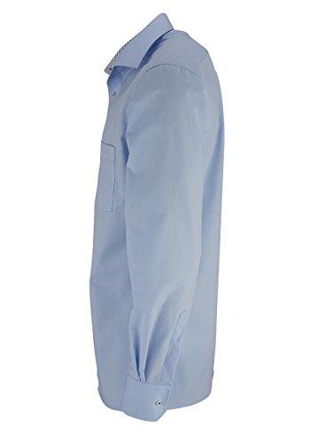 Eterna Herren Hemd Modern Fit Patch hellblau langer Arm 68cm 8500 X37R 10 Al=68 Hellblau