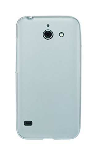Phonix Gel Protection Plus Hülle mit Displayschutzfolie für Huawei Ascend Y550 durchsichtiges weiß