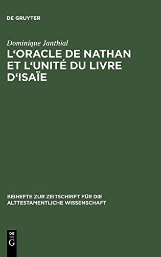 L'oracle De Nathan Et L'unité Du Livre D'isaïe par Domonique Janthial