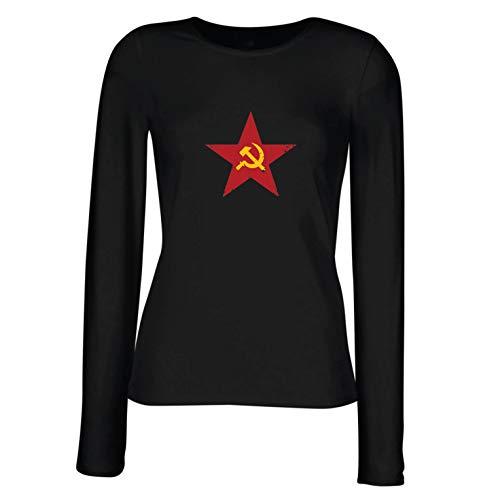 angen Ärmeln T-Shirt URSS СССР Marteau et faucille, Symbole du prolétariat socialiste (X-Large Schwarz Mehrfarben) ()
