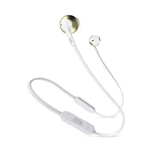 JBL Tune 205BT Cuffie Wireless, Auricolari Bluetooth senza Fili con Microfono e Telecomando a 3 Pulsanti, per Musica, Chiamate e Sport, fino a 6 h di Autonomia, Oro