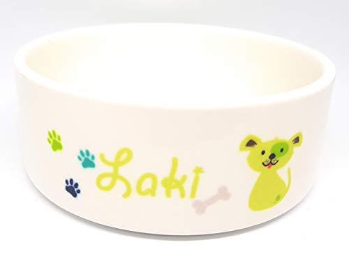 Hundenapf aus Keramik mit dem Namen ihres Hundes personalisiert, in zwei Größen -