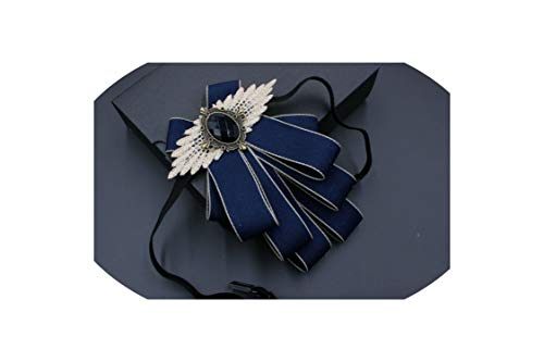 Adult Unisex Wedding Collar Wear Alloy Bow Ties Elastic Band Rhinestone Uniform Ribbon Bowtie,Hot Bowtie4 -