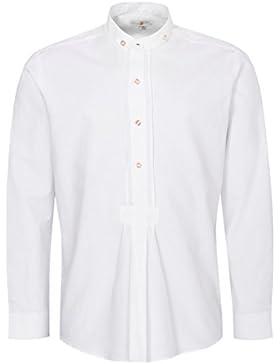 Almsach Trachtenhemd Justus Regular Fit mit Biesen in Weiß Inklusive Volksfestfinder
