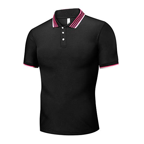 Herren Poloshirt Kurzarm T-Shirt/Dorical Sommer Basic Tee Männer Polo Shirt Slim Fit Top Oversize...