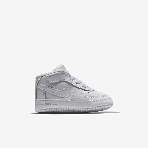Nike Unisex Baby Force 1 (CB) Sneaker, Weiß (White/White/White 100), 17 EU