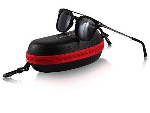 Alsino Loox Sonnenbrille Capri Vintage UV400 Schutz Herren Damen Retro - Gläser aus Polycarbonat - stabiles Gestell, 148-4 gun