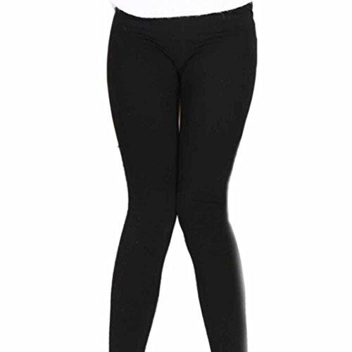 TWIFER Damen Plüsch Kaschmir Dicke Leggings Super Elastic Slim 7 8 Länge Hose (Freie Größe, Schwarz) (Kaschmir-leggings)