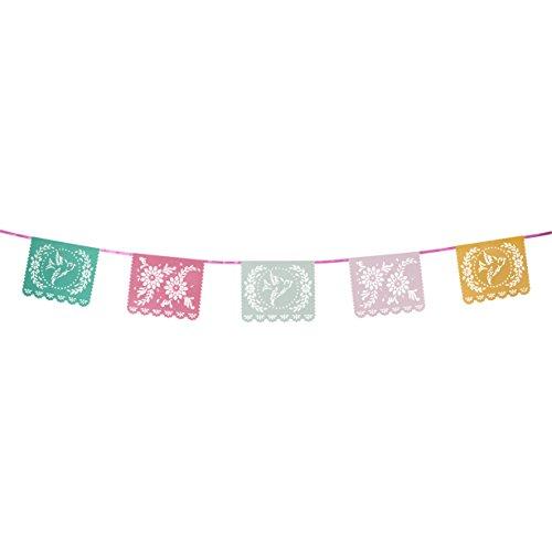 Talking Tables Floral Fiesta, Girlande mit Blumenmotiv für Teekränzchen, Geburtstage und Luau (Hawaiparty); Bunt (4 m)