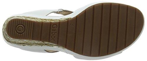 Gabor Shoes Damen Comfort espadrilles Weiß (weiss (Bast) 50)