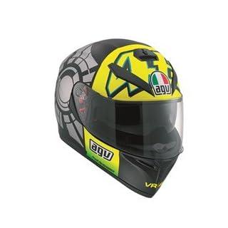 AGV K3SV Rossi Motorradhelm, Nachbildung Winter Test