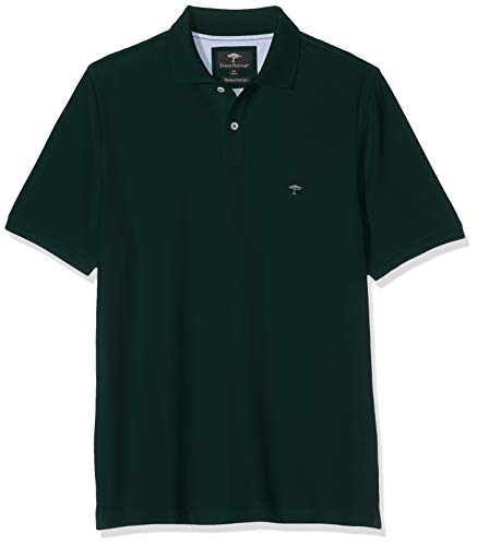 FYNCH-HATTON Herren Basic Supima Cotton Poloshirt, Grün (Diesel 777), X-Large