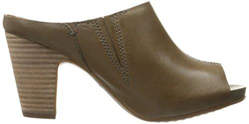 Clarks Okena Chic Slide Pump Khaki Leather